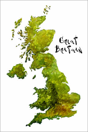 Premium poster Map of the UK