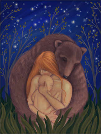 Acrylic print  Mother Bear - Amalia Wahlström