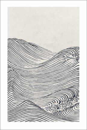 Wood print  Wave II