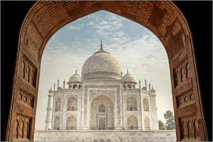 Canvas print  View from the mosque to the Taj Mahal - Thomas Herzog