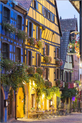 Premium poster  Half-timbered houses, Riquewihr - Matteo Colombo
