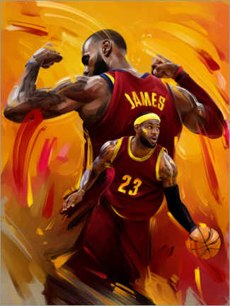 Acrylic print  LeBron James - Dmitry Belov