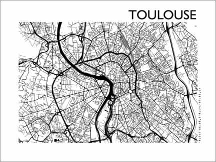 Premium poster City map of Toulouse