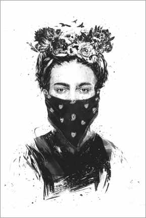 Canvas print  Rebel Frida - Balazs Solti