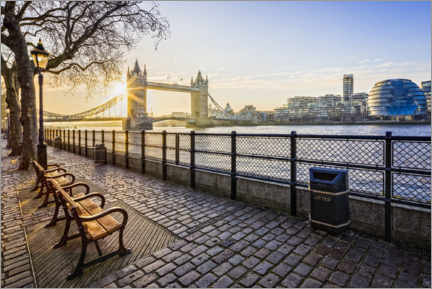 Aluminium print  Tower Bridge in the sunrise - Dieter Meyrl