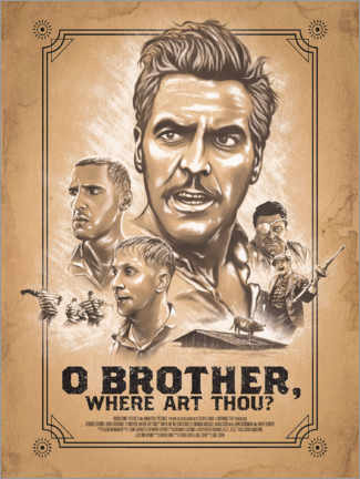 Wood print  O Brother, Where Art Thou - The Usher designs