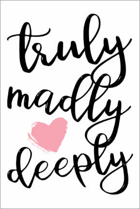 Premium poster  Truly Madly Deeply - Martina illustration