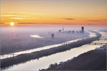 Canvas print  Colorful sunrise over Vienna - The Wandering Soul