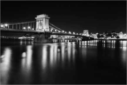 Premium poster Chain bridge in Budapest, Hungary
