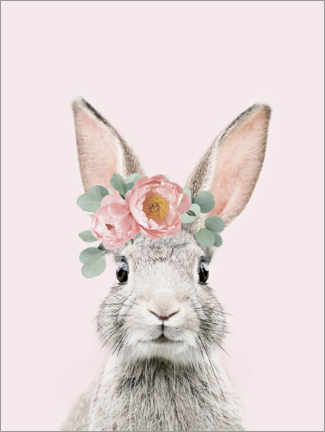 Wood print  Flower bunny - Sisi And Seb