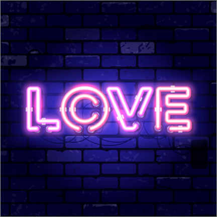 Gallery print  Love - neon sign - TAlex