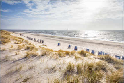 Foam board print  Beach chairs on Sylt beach - Christian Müringer
