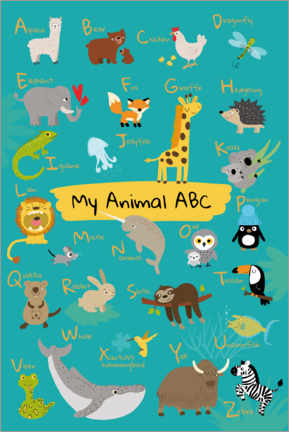 Premium poster My animal ABC I