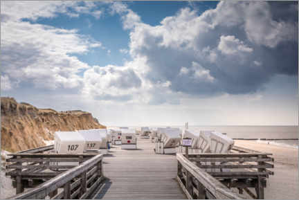 Premium poster  Beach chairs on the west beach of Sylt - Christian Müringer