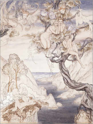 Foam board print  A midsummer night's dream - Arthur Rackham