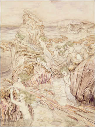 Gallery print  Daughter of the sea - Arthur Rackham