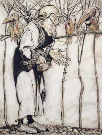 Wall sticker  The Wizard - Arthur Rackham