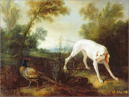 Canvas print  Blanche, Bitch of the Royal Hunting Pack - Jean-Baptiste Oudry