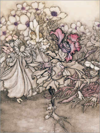 Canvas print  Peter Pan - Arthur Rackham