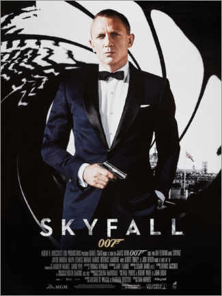 Canvas print  James Bond 007 - Skyfall - Entertainment Collection