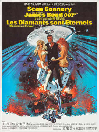 Foam board print  Diamonds Are Forever (French) - Entertainment Collection