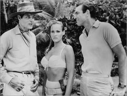 Wall sticker  Jack Lord, Ursula Andres and Sean Connery in Dr. No - Entertainment Collection