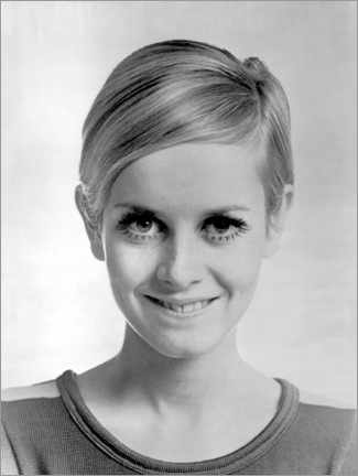 Acrylic print  Smiling twiggy - Celebrity Collection