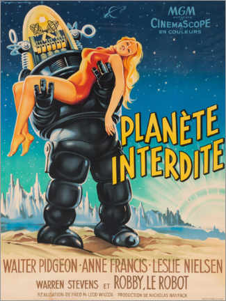 Premium poster Forbidden Planet (French)