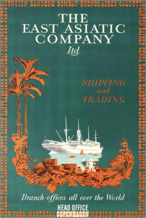 Premium poster  The East Asian Company - Travel Collection