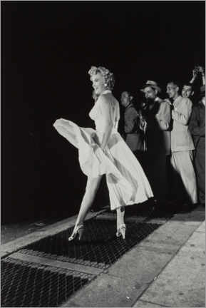 Aluminium print  Marilyn in an airy dress - Celebrity Collection