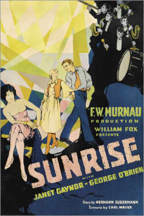 Premium poster Sunrise with Janet Gaynor