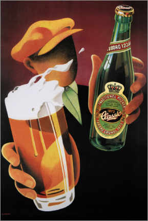 Acrylic print  Tuborg Classic - Advertising Collection