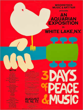 Foam board print  Woodstock Festival - Entertainment Collection
