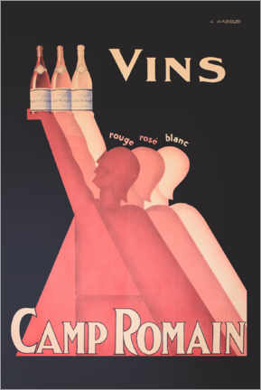 Canvas print  Camp Romain wines - Advertising Collection