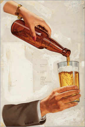 Canvas print  A nice cold beer - Advertising Collection