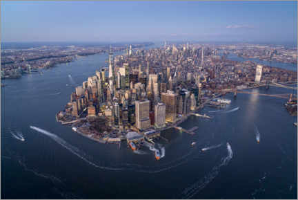 Premium poster  New York City from above - Jan Christopher Becke