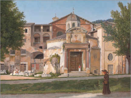 Gallery print  Section of Via Sacra, Rome - Christoffer Wilhelm Eckersberg