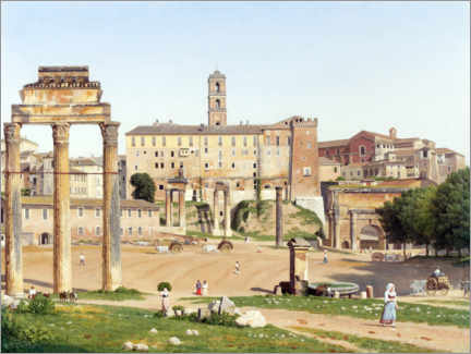Foam board print  Forum in Rome - Christoffer Wilhelm Eckersberg
