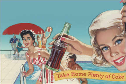 Foam board print  Coke by the pool - Advertising Collection