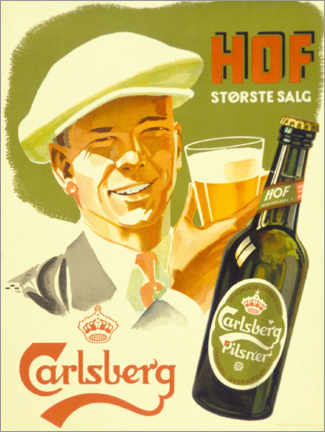 Wood print  Carlsberg -  Hof Største Salg - Advertising Collection