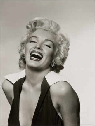 Canvas print  Marilyn with a radiant smile - Celebrity Collection