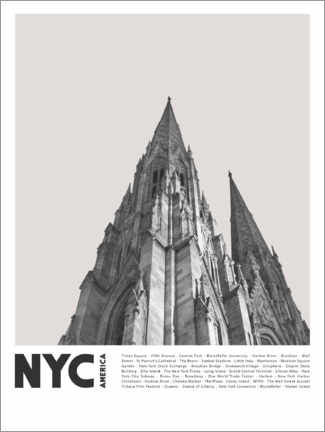 Premium poster  Attractions in New York III - Finlay and Noa