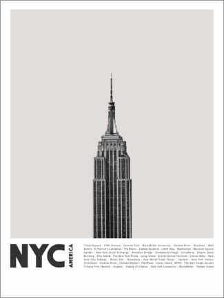 Gallery print  Attractions in New York II - Finlay and Noa