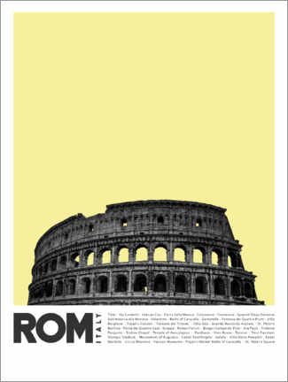Premium poster Sightseeing in Rome II