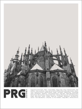 Wood print  Sightseeing in Prague II - Finlay and Noa