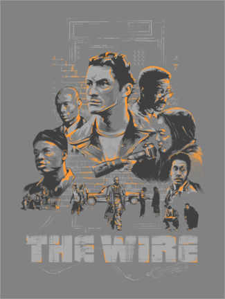 Acrylic print  The Wire - The Usher designs