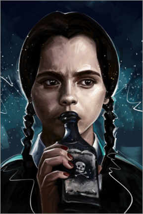 Canvas print  Wednesday Addams - Dmitry Belov