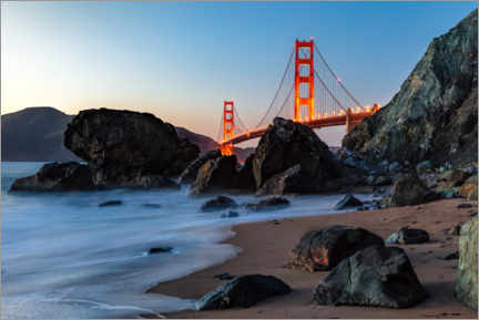 Canvas print  Golden Gate Bridge in San Francisco - Mike Centioli