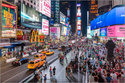 Acrylic print  Times Square in New York - Mike Centioli