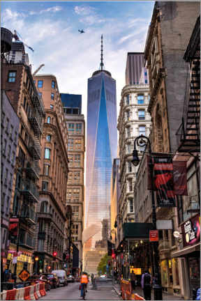 Wood print  One World Tower in New York - Mike Centioli